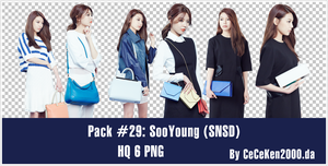 PACK PNG #29: SooYoung (SNSD) by CeCeKen2000