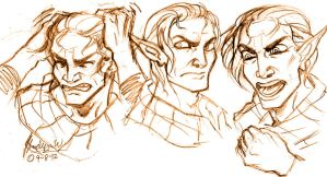 Angry Mercy Sketches by MistyTang