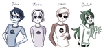 Homestuck Kids by SonicRocksMySocks