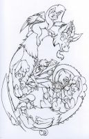 Discord and his gang *outline* Colour Vote? by nekotigerfire