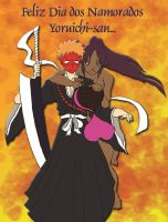 Ichigo and Yoruichi Valentine by DarkDarkman000