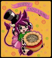 Happy Moo Year 2007 by KawaiiUniverseStudio