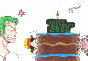 Happy Birthday Zoro by gbert15