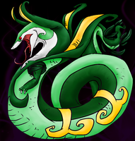 Colored Lineart: Serperior by shadowyoshigamernerd