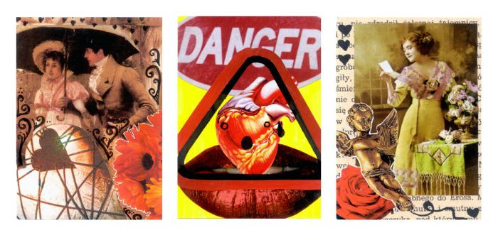 valentines day ATCs by meretseger
