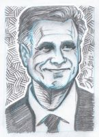Mitt Romney sketch - 002 by USAmazing