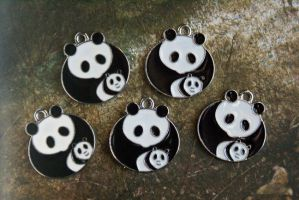 Panda Charms by MonsterBrandCrafts
