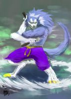 Kung fu Werewolf by MONSTA-E