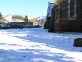 snow, churchyard  oct 29th 22 by dark-dragon-stock