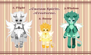 .:CUSTOM SPIRIT EGGS:. by GloryCat