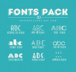 Fonts Pack by Inspirecolors