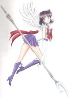 Sailor Saturn by vanillain0cence
