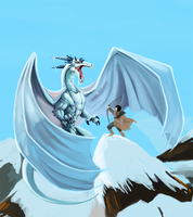 Progress Shot: Ice Dragon by LittleMeesh