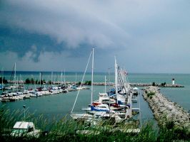 Stormy Lake Ontario by j-a-x