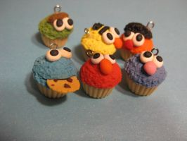 Sesame Street inspired Cupcakes! by Misstymountains