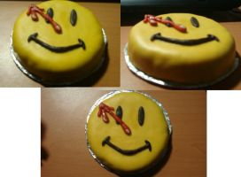 Watchmen-smiley cake by HappilyDeluded889