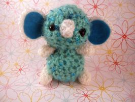 Blue Heart-Sequin Koala by AmiTownCreatures
