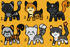 Halloween adoptables [CLOSED] by LiveToAdopt
