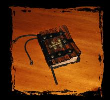 leather ''grimmoire'' spells book by Lagueuse