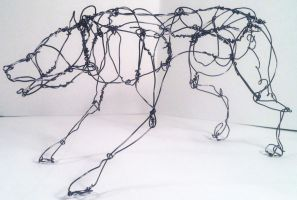 Wire Wolf 1 by JulianneKnight