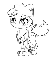 Kyle line art for moonclaw by nenogirlygirl