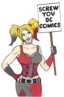 Harley: Screw You DC! by ccootttt