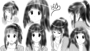 Sketch Hyouka Eru by Zizus15