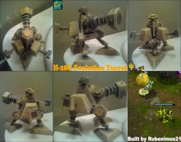 H-28G Evolution Turret lvl1 Papercraft Finished by rubenimus21