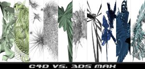 C4d Vs. 3ds Max Render Pack by thetwiggman