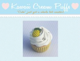 Pineapple Cream Cupcake by kawaiicreampuffs