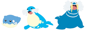 Spheal, Sealeo and Walrein Base