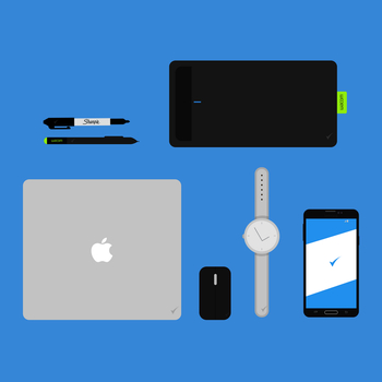 Flat Design - Objects (Free PSD) by MarkARTGD