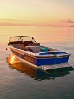 Dassia boats at sunrise 2 by melrissbrook