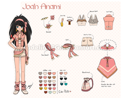 Joah Anami [Character-Reference-Sheet] by MadelineCG