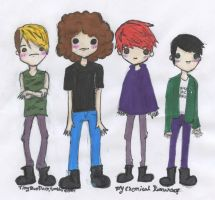 MCR chibis by tsunadeboo22