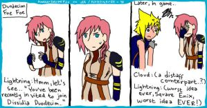 Lightning for Dissidia by AnotherSasukeFan