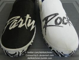 LMFAO Party Rock slip-ons by CrimsonVip3r