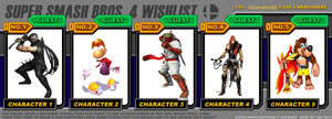 Shadowlord90's Top 5 Characters for Smash 4 by Shadowlord90