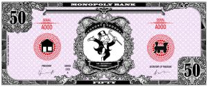 Monopoly bank note 50 poly by ironic440