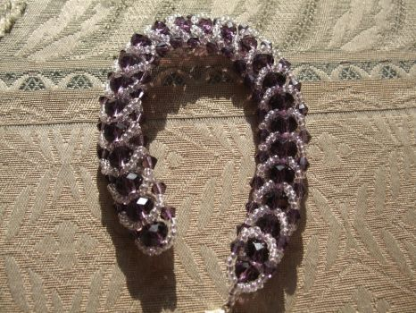 Purple Flat Spiral Bracelet by innocenteyes89