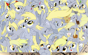 Derpy Ditzy explosion wallpaper by Starlyk