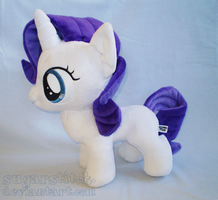 MLP FiM: Filly Rarity Plush by sugarstitch
