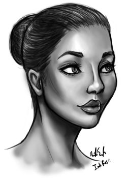 Facial Shading Practice by InkRose98