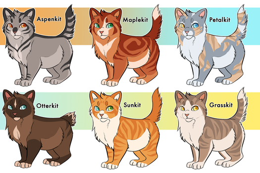 warrior cat kit adoptables closed by ClimbToTheStars