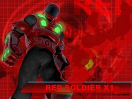 Red Soldier X1 by glowingblue
