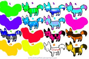 16 Prise Dog Adopts!!![OPEN!!! 6points each!!] by Girryy
