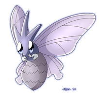 + Venomoth -049 + by PokeChibiArtist98