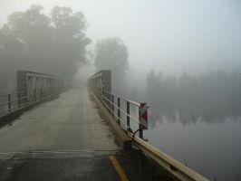 Bridge and early morning fog by ChrisBr
