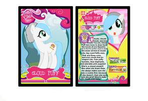 Cloud Puff Trading Card by Cookie--Bear