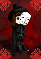 V from V for Vendetta by Therapii
